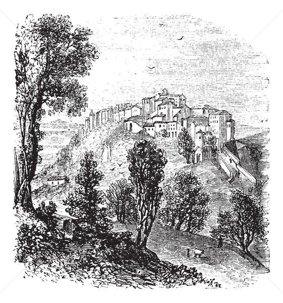 Toskana İtalya bağbozumu oyma eski oyulmuş Stok fotoğraf © Morphart