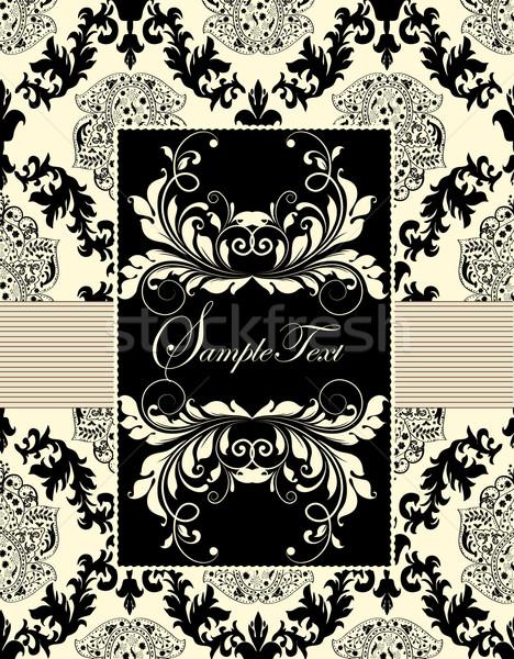 ヴィンテージ 結婚式招待状 カード エレガントな 抽象的な ストックフォト © Morphart