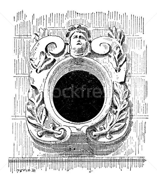 Bull's Eye, vintage engraving Stock photo © Morphart