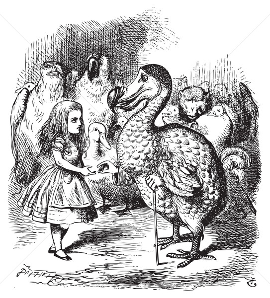 Alice and the Dodo presenting the Thimble Stock photo © Morphart
