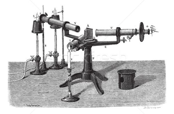 The Spectroscope or spectrophotometer, vintage engraving. Stock photo © Morphart