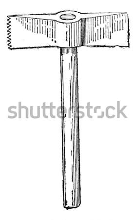 Sledgehammer, vintage engraving Stock photo © Morphart