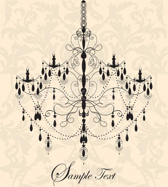 Vintage lampadario floreale design compleanno Foto d'archivio © Morphart