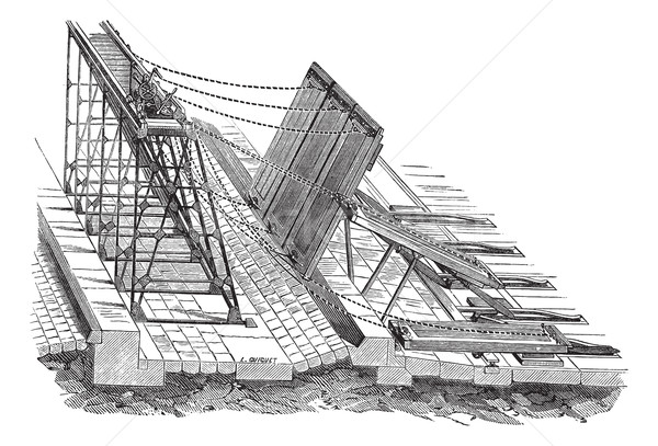 Stock photo: Weirs swing vintage engraving