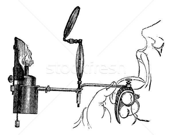 Taşınabilir bağbozumu oyma doğrudan ışık Stok fotoğraf © Morphart