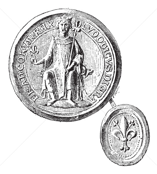 Seal against seal- employees by St. Louis to the first crusade,  Stock photo © Morphart