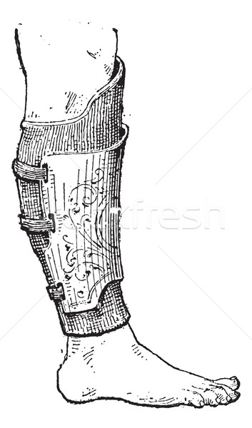 Pad (armor), vintage engraving. Stock photo © Morphart