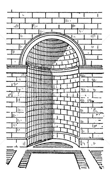 Romaine niche vintage gravure gravé illustration Photo stock © Morphart