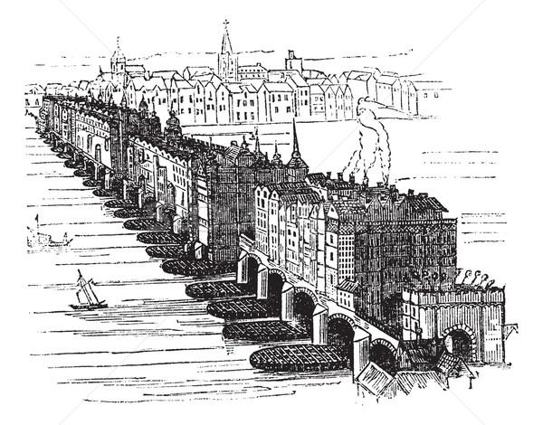 Vieux médiévale london bridge Angleterre Royaume-Uni vintage Photo stock © Morphart