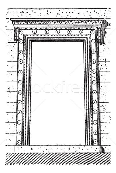 The gate at Erechtheion vintage engraving Stock photo © Morphart