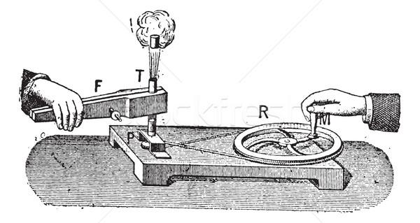 Thermodynamic, vintage engraving. Stock photo © Morphart