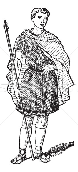 Roman Tunic, vintage engraving Stock photo © Morphart
