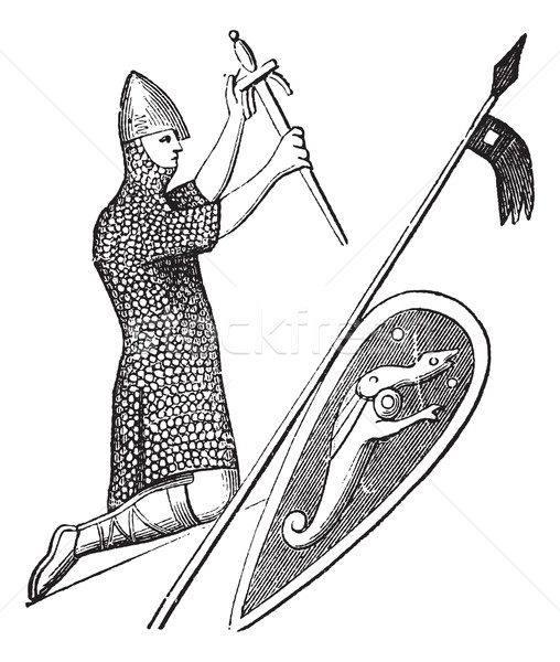 The seal of king william the conqueror vintage engraving Stock photo © Morphart