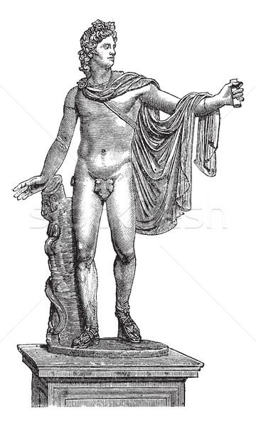 バチカン市国 ヴィンテージ 彫刻 古い 刻ま 実例 ストックフォト © Morphart