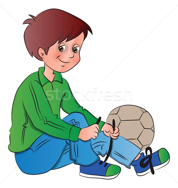Vector jongen voetbal schoenen bal kid Stockfoto © Morphart