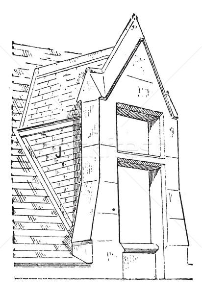 天窓 ヴィンテージ 彫刻 刻ま 実例 辞書 ストックフォト © Morphart