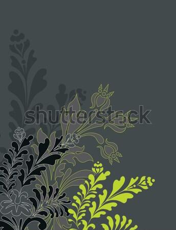 ベクトル ヴィンテージ スタイル 花ベクトル 花 ストックフォト © Morphart