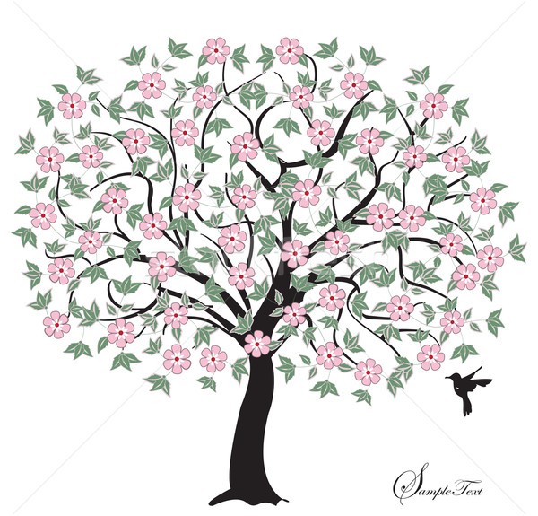 Stock photo: Tree with pink flowers