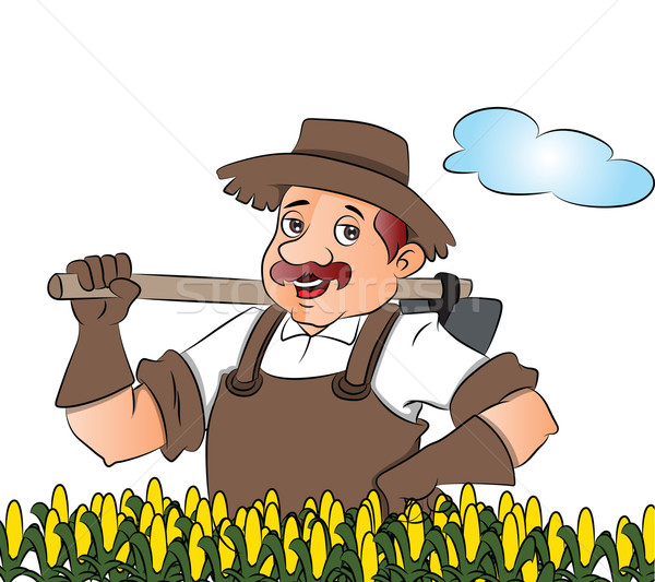 Vector of gardener with a shovel. Stock photo © Morphart