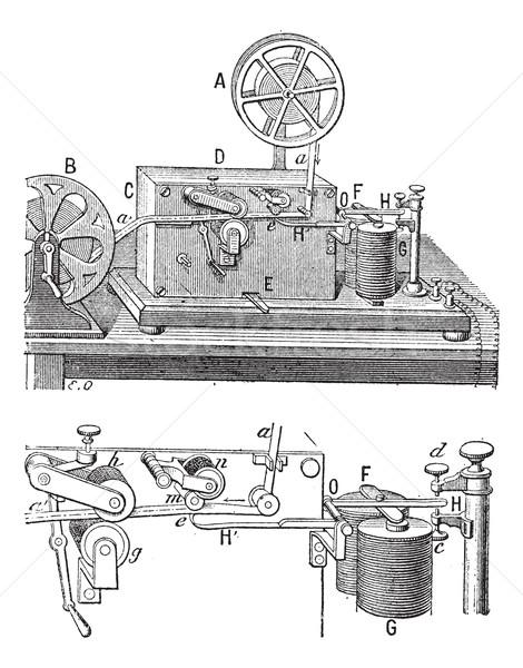 Aparato vintage grabado ilustración diccionario Foto stock © Morphart