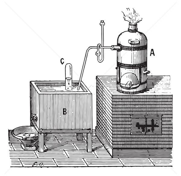 Oxígeno vintage grabado ilustración diccionario Foto stock © Morphart
