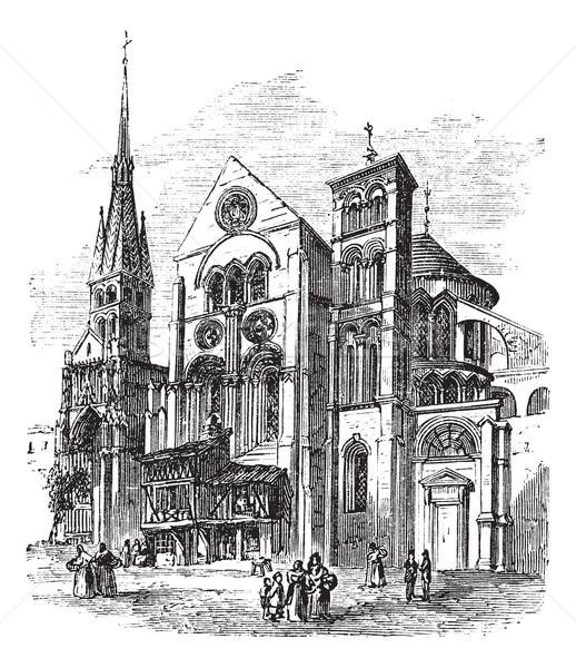 Церкви Франция Vintage старые Сток-фото © Morphart