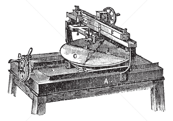 Engraving machine vintage engraving Stock photo © Morphart