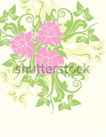 Vintage wedding invitation card with ornate elegant floral desig Stock photo © Morphart