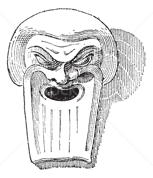 Greek Clay Mask, vintage engraving Stock photo © Morphart