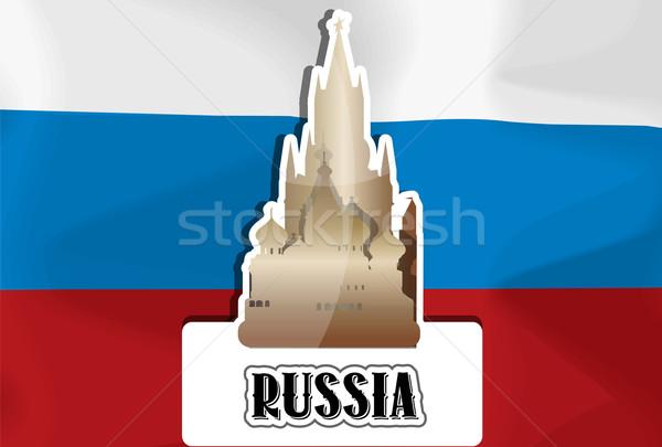 Rusland illustratie russisch vlag basilicum Stockfoto © Morphart