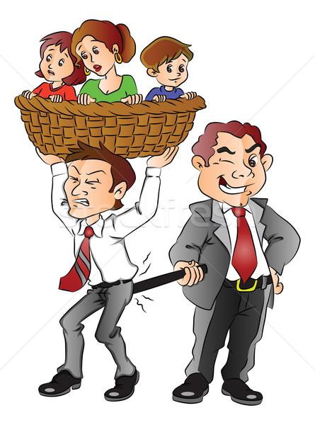 ベクトル 上司 戻る 従業員 家族 ストックフォト © Morphart