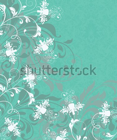 Vintage invitation card with ornate elegant abstract floral desi Stock photo © Morphart
