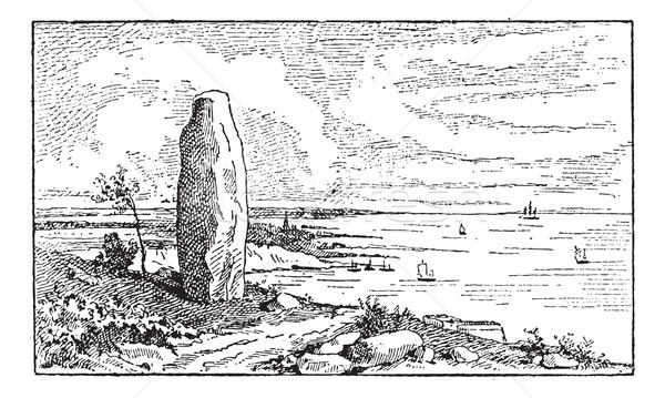 Menhir, vintage engraving Stock photo © Morphart
