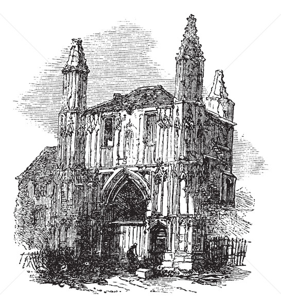 Colchester Abbey, in Essex, England, vintage engraving Stock photo © Morphart