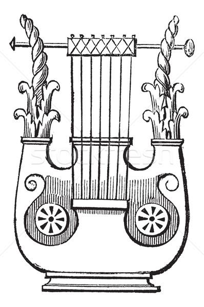 Klasszikus vésés öreg gravírozott illusztráció antik Stock fotó © Morphart