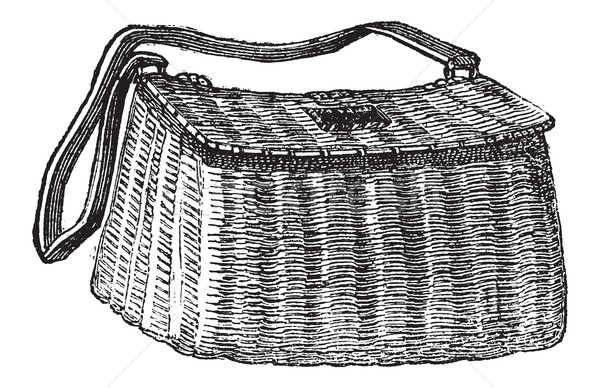 Fisherman's Basket, vintage engraving Stock photo © Morphart