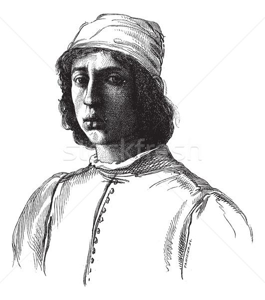 ギャラリー フィレンツェ 肖像 描いた リップ 図面 ストックフォト © Morphart