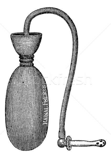 Injector pocket, vintage engraving. Stock photo © Morphart