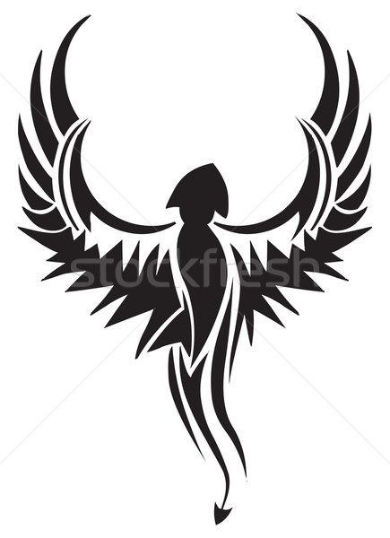Tattoo design of flying bird, vintage engraving. Stock photo © Morphart
