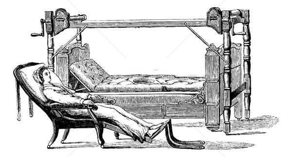 Uitgang patiënt uit bed zitten Stockfoto © Morphart
