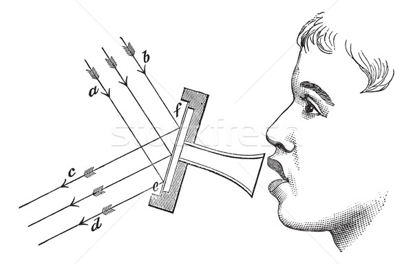 Fig 4. The mirror aperture, vintage engraving. Stock photo © Morphart