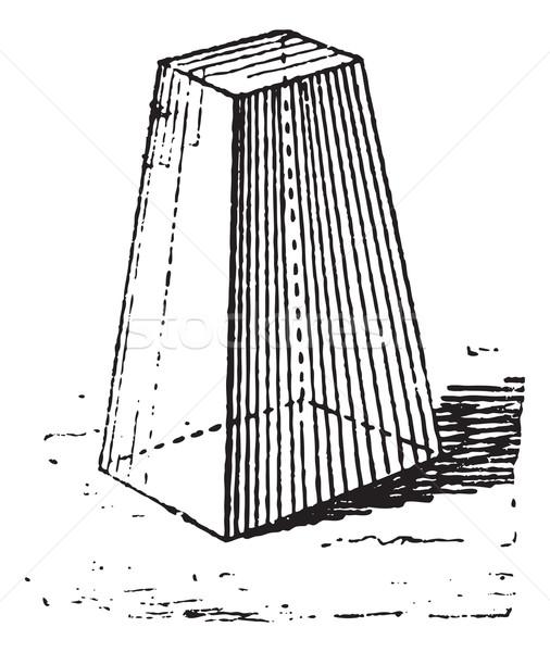 Truncated pyramid, vintage engraving. Stock photo © Morphart