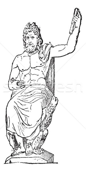 Vatican musée vintage gravure gravé illustration Photo stock © Morphart