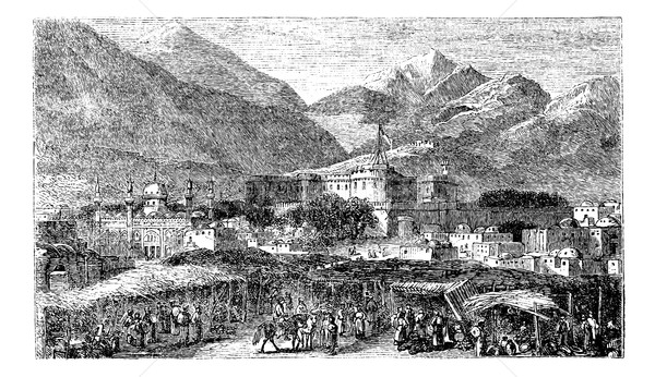 Kandahar capital city of province Afghanistan vintage engraving, Stock photo © Morphart
