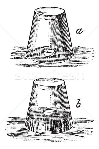 Combustion air vintage gravure verre eau Photo stock © Morphart