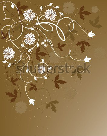 Card with abstract flowers and place for text Stock photo © Morphart
