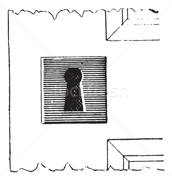 Platin kilitlemek bağbozumu oyma oyulmuş örnek Stok fotoğraf © Morphart