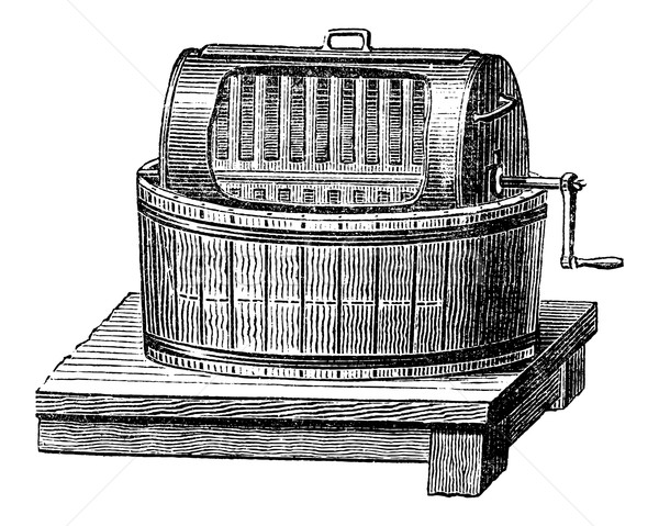 Butter Churn, vintage engraving Stock photo © Morphart