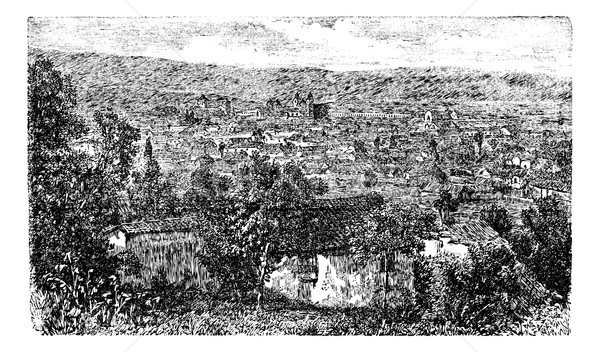 Stock photo: Bogota city, capital of Colombia, vintage engraving in the 1890s