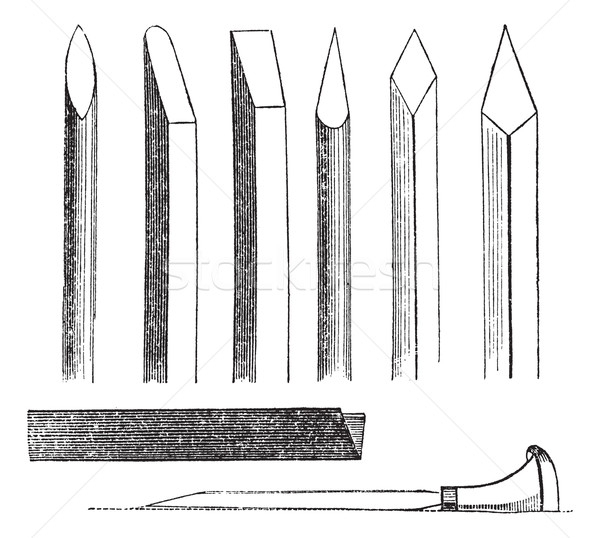 Wood carving hand tools vintage engraving  Stock photo © Morphart